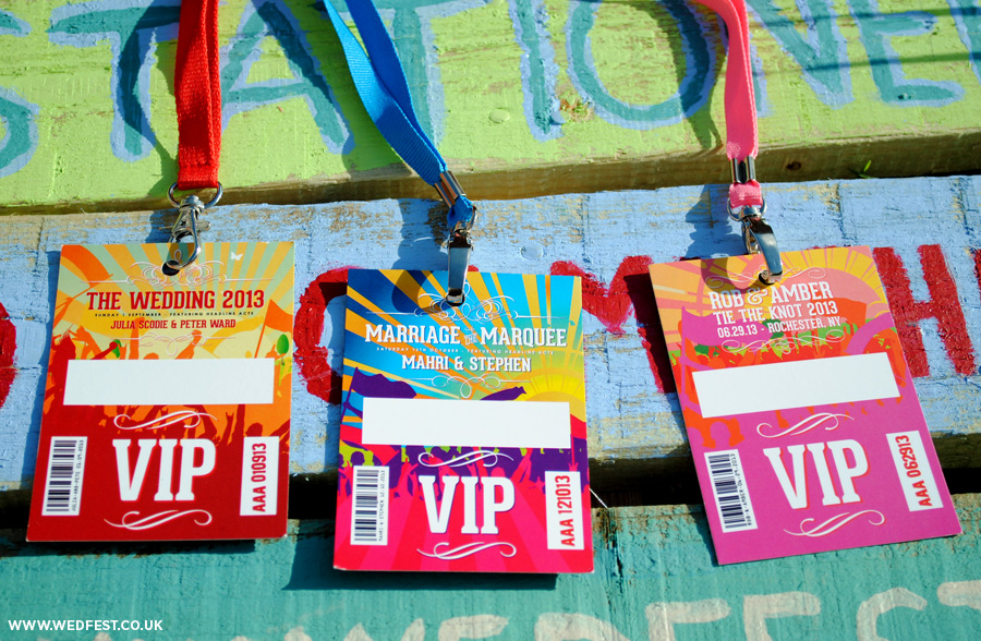 festival weddings vip lanyards