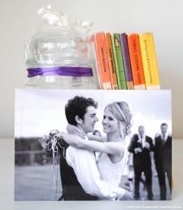 personalised photo wedding thank you card