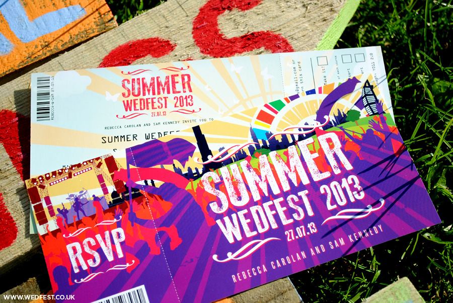 summer wedfest dubai wedding invitations