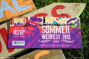 summer wedfest wedding invitations