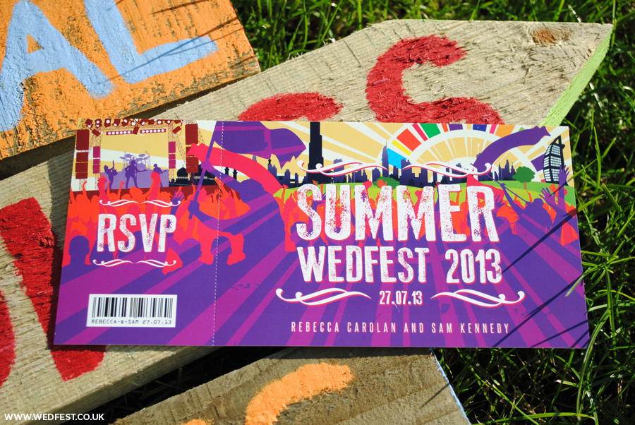 summer wedfest wedding invitations