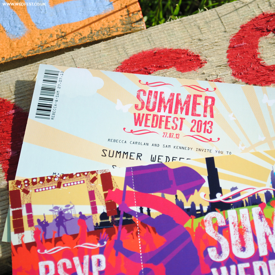 summer wedfest wedding invites