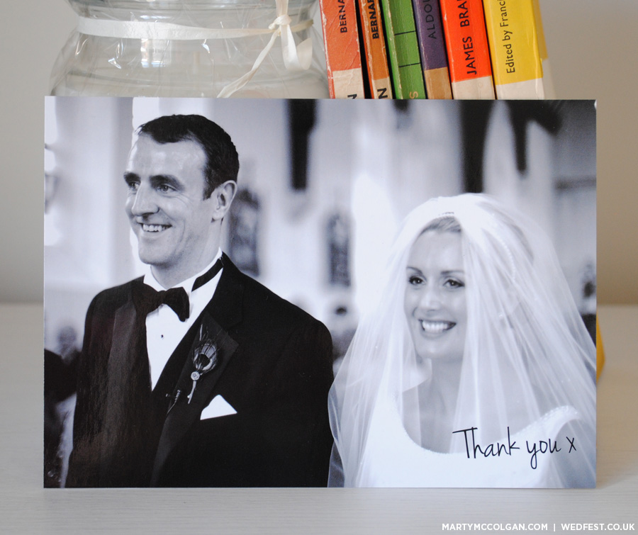 wedding thank you card postcards