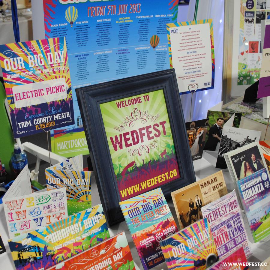 wedfest festival themed wedding stationery