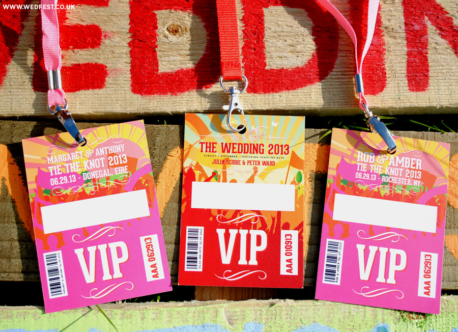 wedfest festival wedding vip neck lanyards