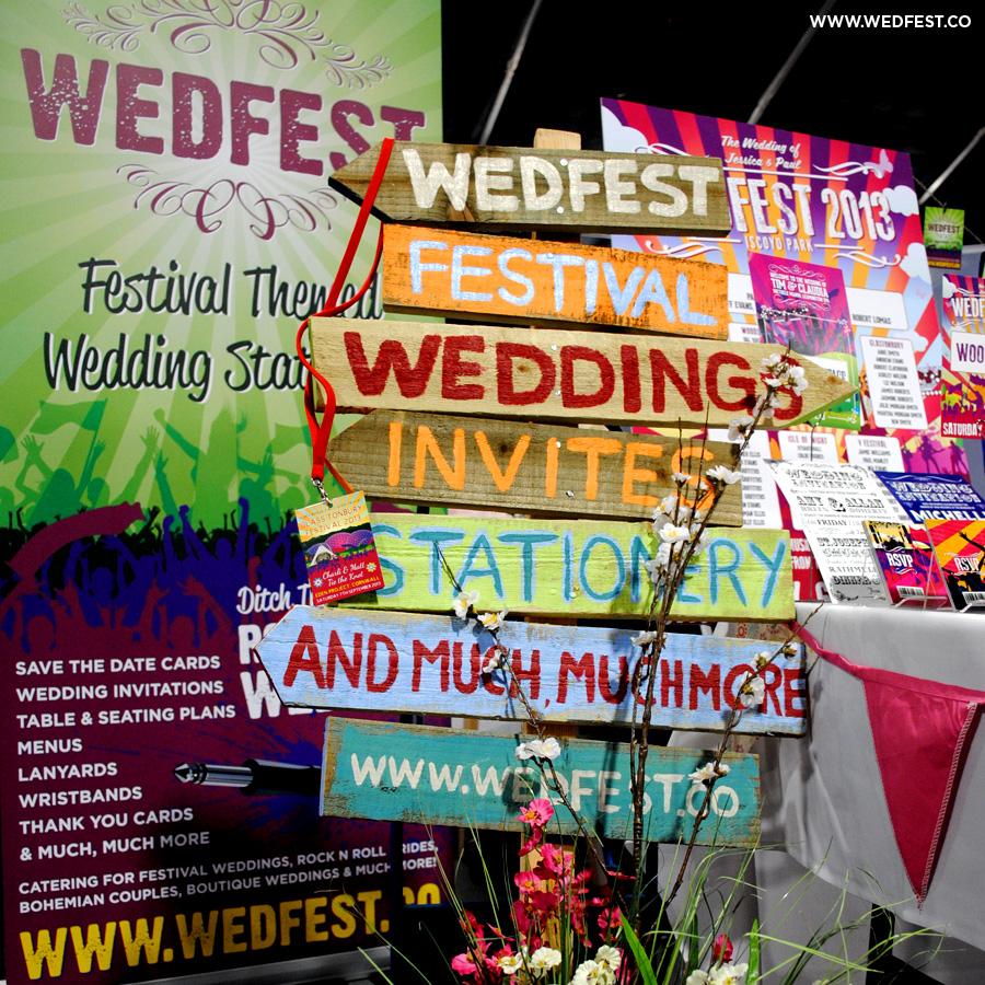 wedfest festival weddings stationery