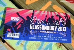 glastonbury festival wedding invitations