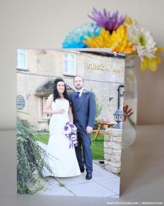personalised photo wedding thank you cards