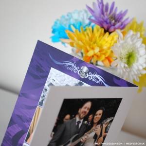 rock wedding skull thank you cards