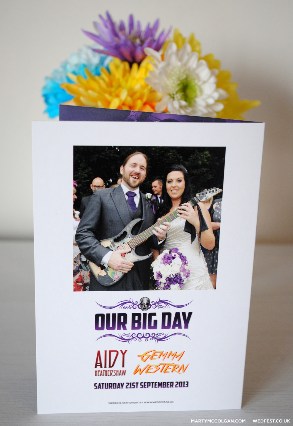 rockers wedding stationery