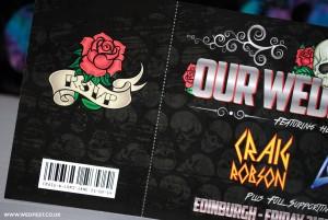 roses vintage tattoo wedding invites
