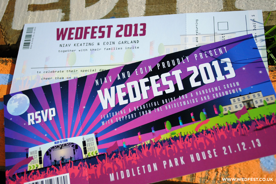 wedfest concert ticket wedding invites