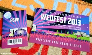 winter festival ticket wedding invites