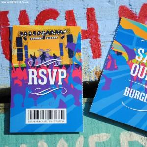 spring summer ticket style wedding stationery