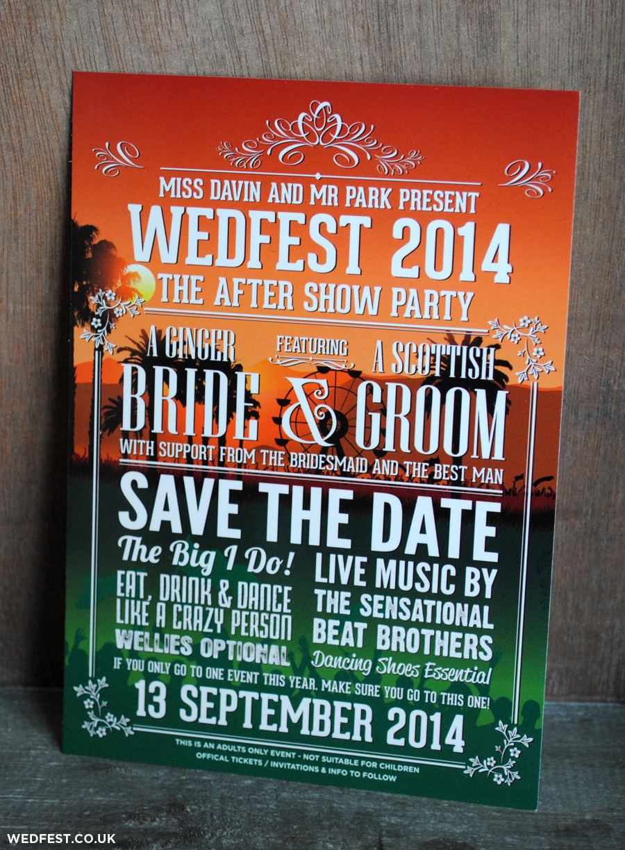 concert poster save the date wedfest