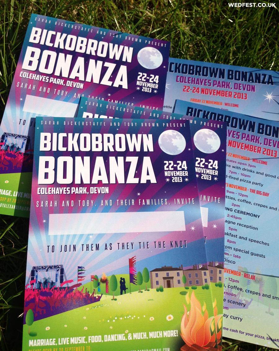 festival concert flyer wedding invitations