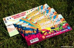 festival ticket birthday invites