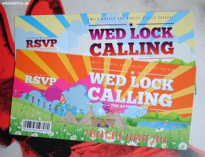 teepee festival wedding invites