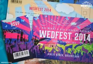 australia festival wedding invites