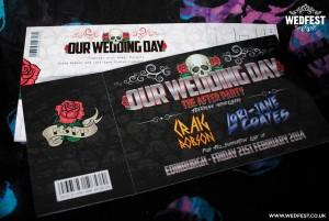 heavy metal wedding invitations