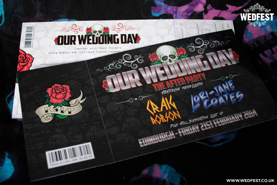 heavy metal wedding invitations