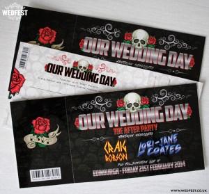 heavy metal wedding invites
