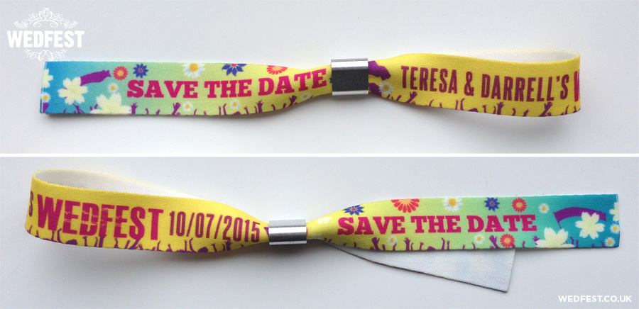 wedding save the date event wristbands