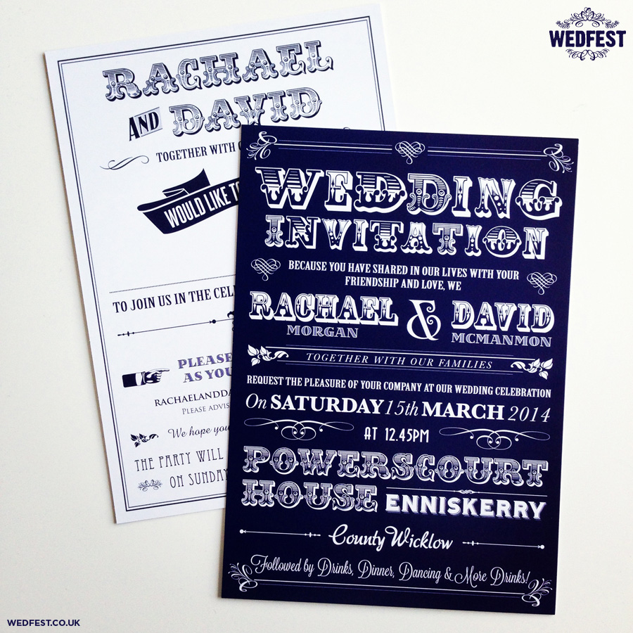 Typography Wedding Invitations Wedfest