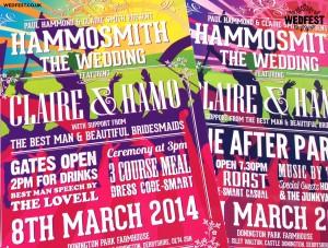 personalised festival wedding invites