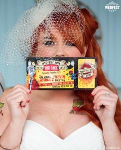 rock and roll bride rockabilly wedding invites