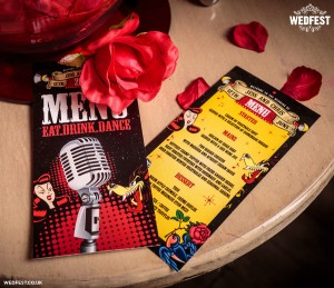 rockabilly wedding menus