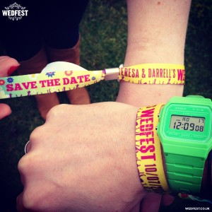 save the date festival wristbands