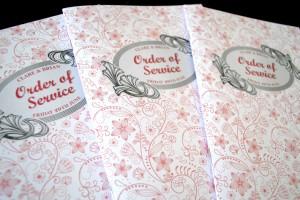 wedding order of service booklets