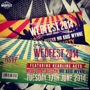 wedfest 2014 festival invitations