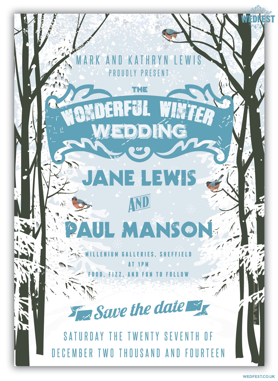 winter wedding save the date