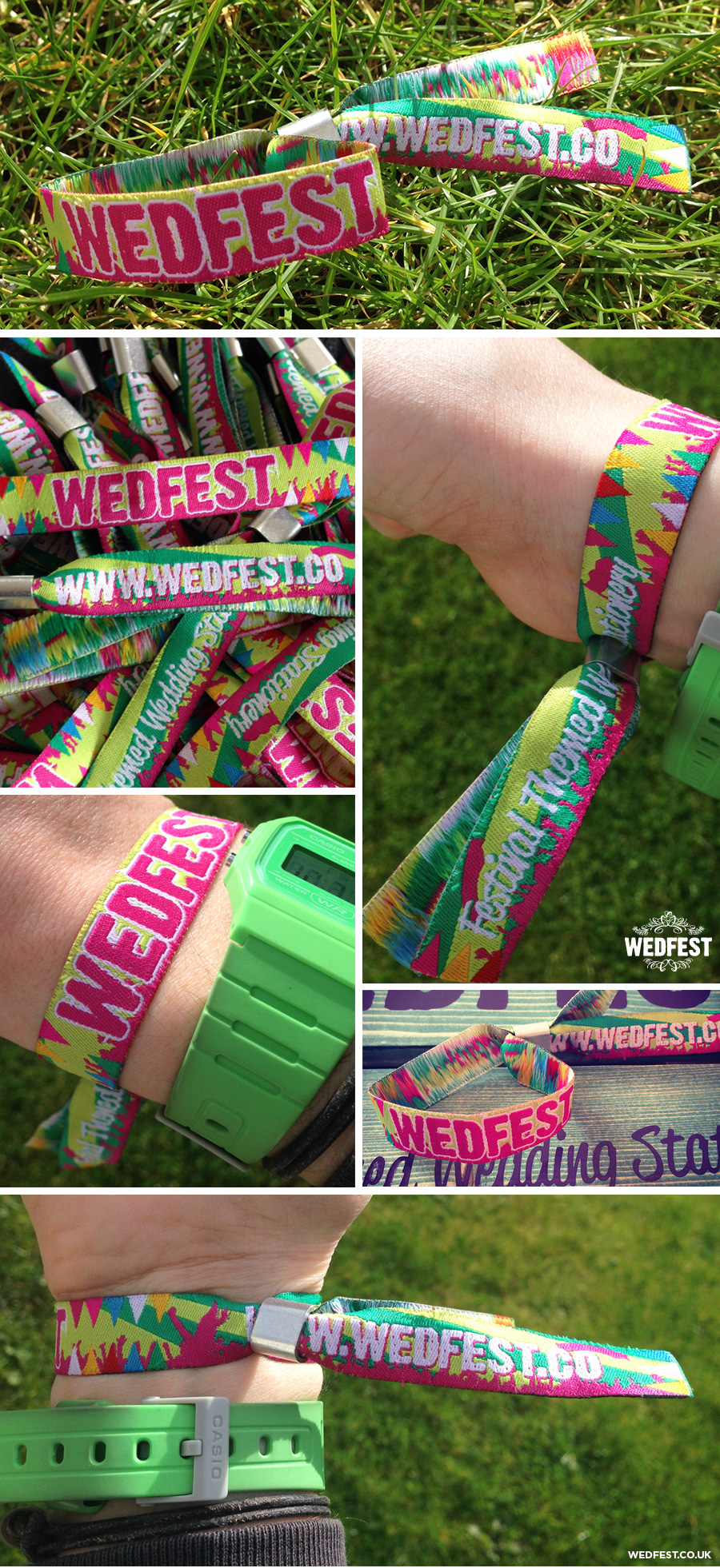 woven fabric festival wristbands