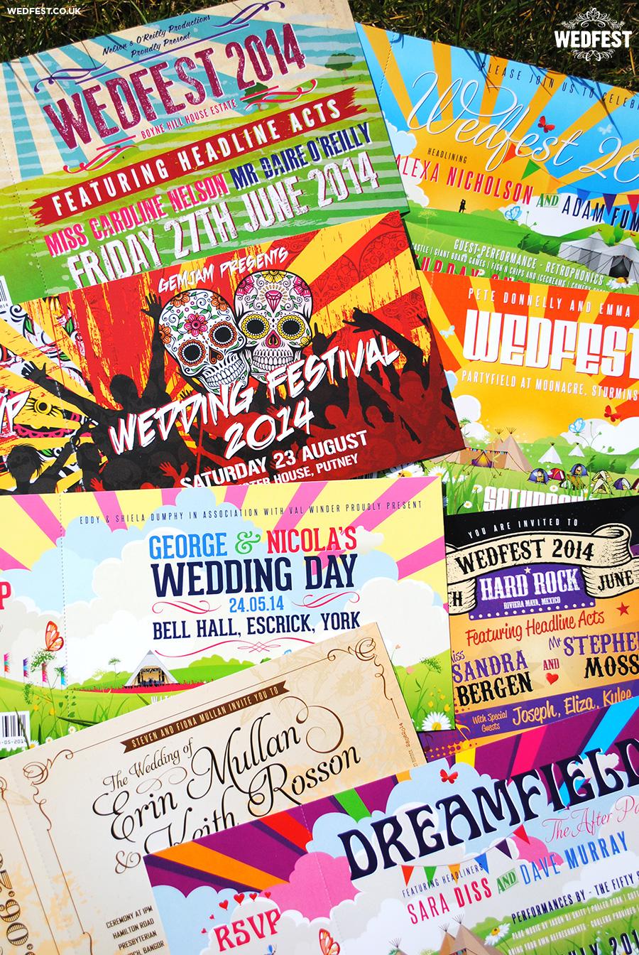 festival themed wedding invites