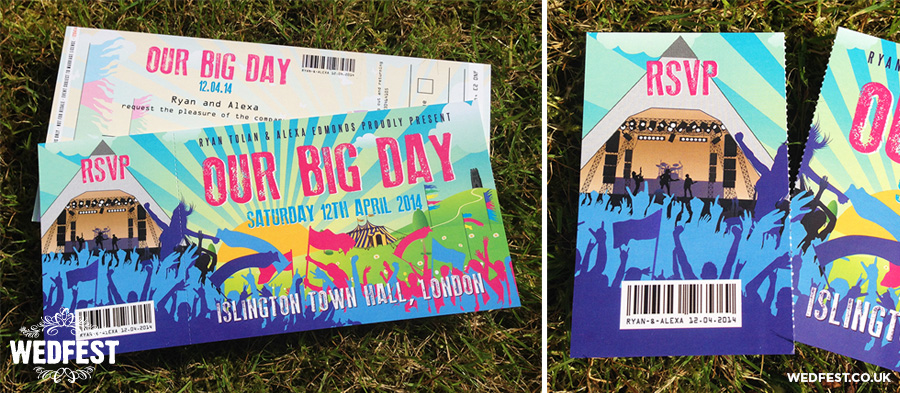 glastonbury themed wedding invitations