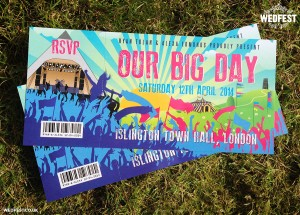 glastonbury ticket wedding invites