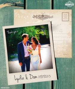 polaroid photo wedding cards