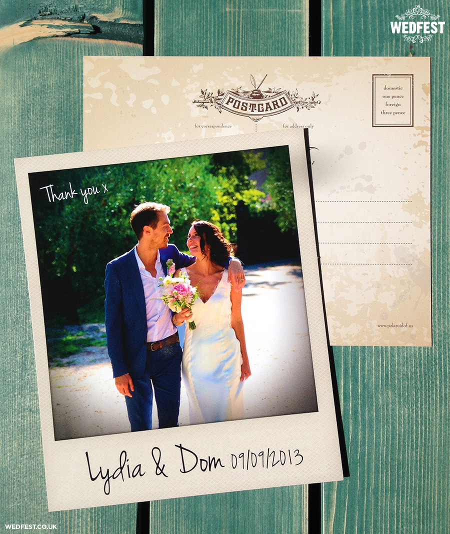 polaroid photo wedding cards