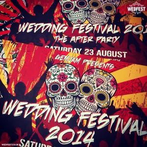 wedfest sugar skull wedding invitations