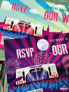 festival style wedding invites