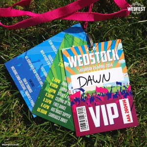wedstock festival wedding lanyards
