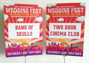Festival Wedding Table number cards