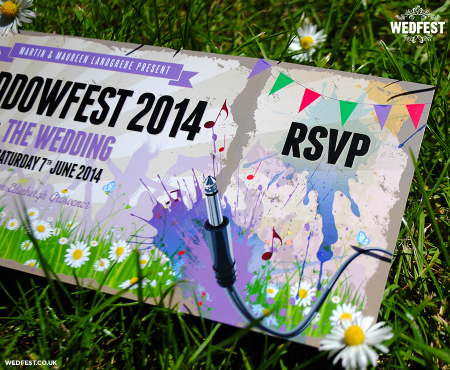 paint splatter festival wedding invites