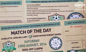 Football Ticket Wedding Invites