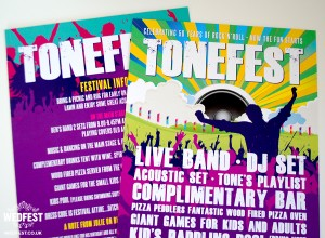 TONEFEST festival poster birthday party invitations