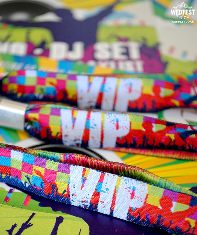 VIP festival wristbands
