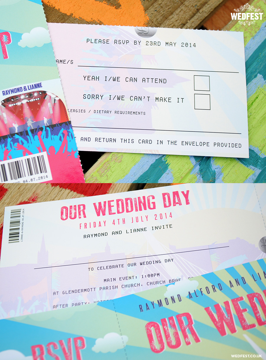 big weekend wedding invites